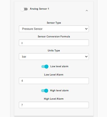 Analog sensor configuration